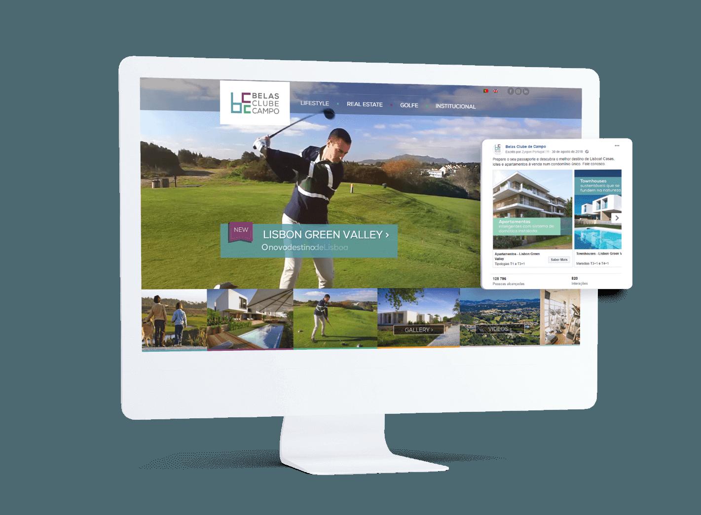 Comunicaçõ integrada de marketing digital Belas Clube de Campo