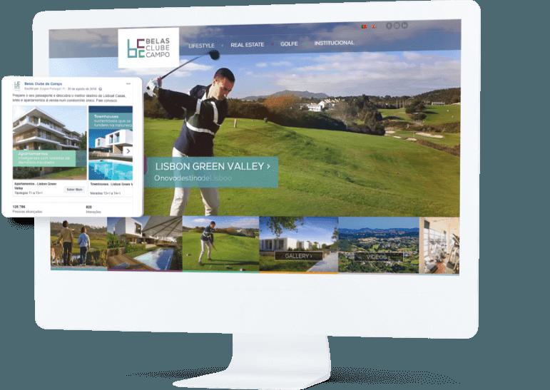 website Belas Clube de Campo