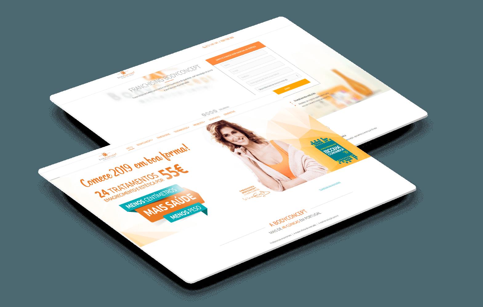 website Body Concept