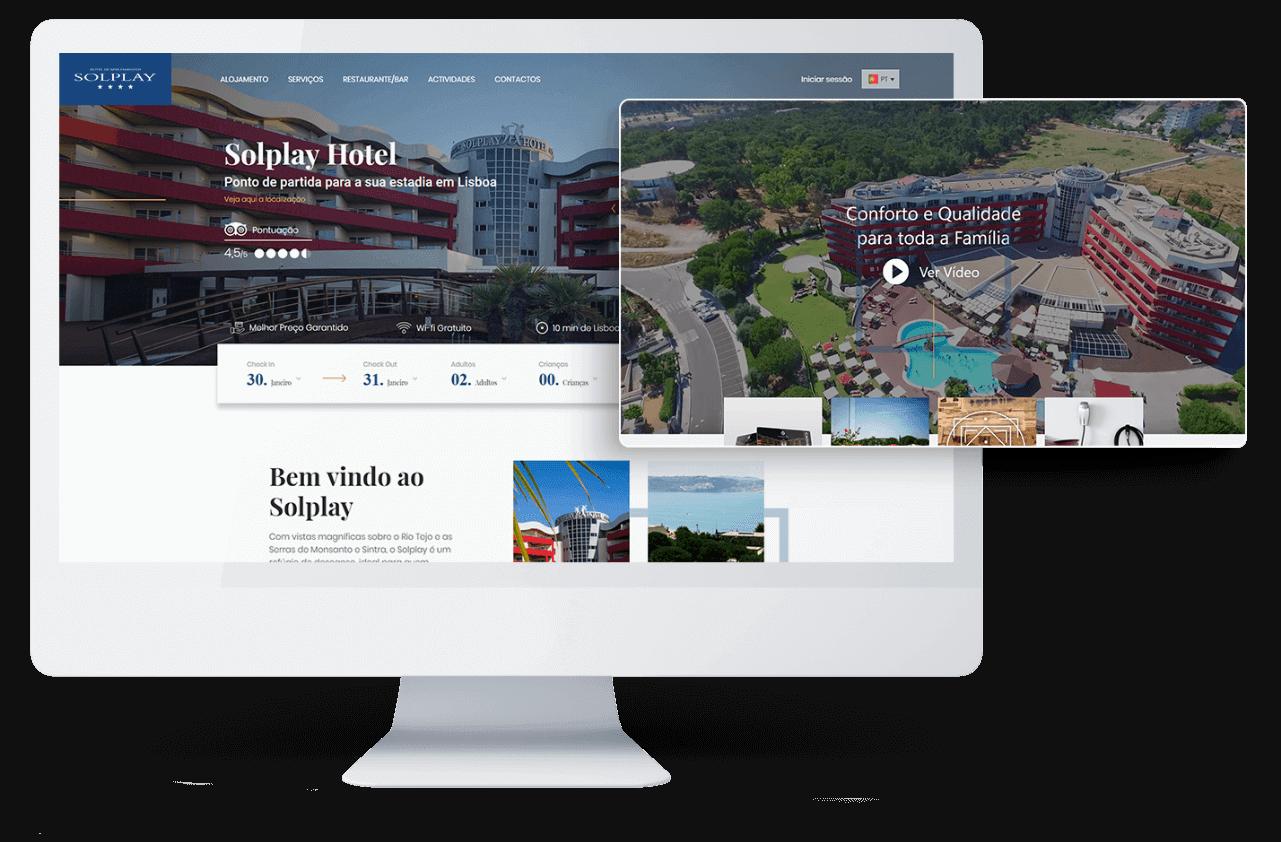website Solplay Hotel de Apartamentos