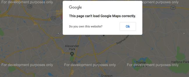 google maps não funciona