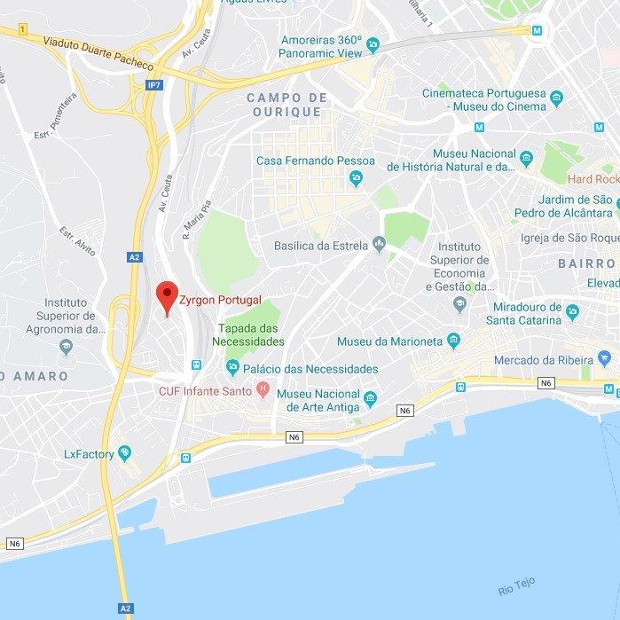 Zyrgon localização google maps